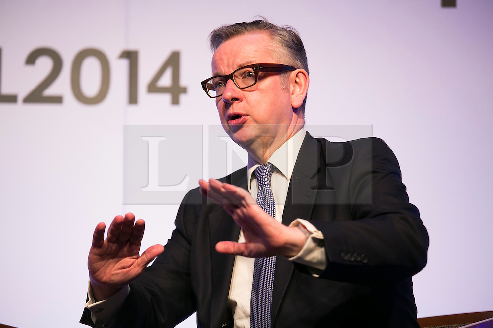 © Licensed to London News Pictures. 21/3/2014, Metropole Hotel, NEC, West Midlands, UK. Education Minister Michael Gove speech at the Association of Schools and College Leaders Annual Conference (ASCL) earlier today. Photo credit : Dave Warren/LNP