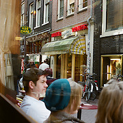 A panoramic view of a street scene in Amsterdam, Holland. 23rd July 2011. Photo Tim Clayton
