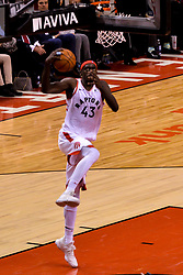 January 22, 2019 - Toronto, Ontario, Canada - Pascal Siakam #43 of the Toronto Raptors jumps up during the Toronto Raptors vs Sacramento Kings  NBA regular season game at Scotiabank Arena on January 22, 2018 in Toronto, Canada (Toronto Raptors win 120-105) (Credit Image: © Anatoliy Cherkasov/NurPhoto via ZUMA Press)