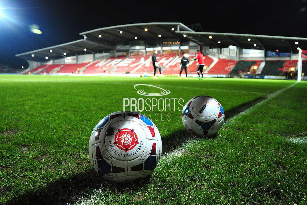 The Glyndŵr University Racecourse Stadium prior to the Vanarama National League match between Wrexham AFC and Kidderminster Harriers at the Glyndŵr University Racecourse Stadium, Wrexham, United Kingdom on 23 February 2016. Photo by Mike Sheridan.