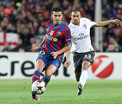06-04-2010 VOETBAL: CHAMPIONS LEAGUE: BARCELONA - ARSENAL: BARCELONA<br /> Barcelona wint met 4-0 van Arsenal / Pedro Rodriguez (l) and Gael Clichy<br /> ©2010-FRH-nph / Alterphotos-Acero