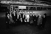 16/11/1966<br /> 11/16/1966<br /> 16 November 1966<br /> Personnel of O'Brien Plastics Ltd., Bishopstown, Cork at Heuston Station, Dublin. the arty prepares to board the bus to the intercontinental Hotel, Dublin to announce that Phillips Petroleum Company, Oklahoma U.S.A had acquired a 50% interest in O'Brien Plastics.