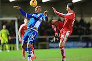 Calvin Andrew during the Sky Bet League 1 match between Rochdale and Chesterfield at Spotland, Rochdale, England on 9 January 2016. Photo by Daniel Youngs.