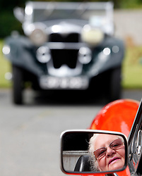 Bernie Sullivan from Palmerstown Dublin pictured in her 1979 MG Roadster at the Irish Veteran & Vintage Car Club's 34th Annual Powerscourt Estate Picnic Event. Pic Andres Poveda