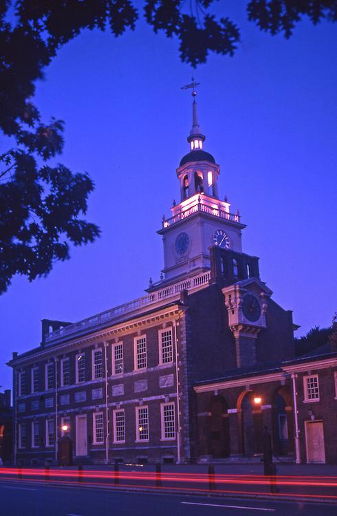 Independence National Historical Park, Independence Hall, Night Light, Philadelphia