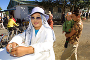 GOBI DESERT, MONGOLIA..09/03/2001.Bayanhongor (Bayankhongor). At the market..(Photo by Heimo Aga).