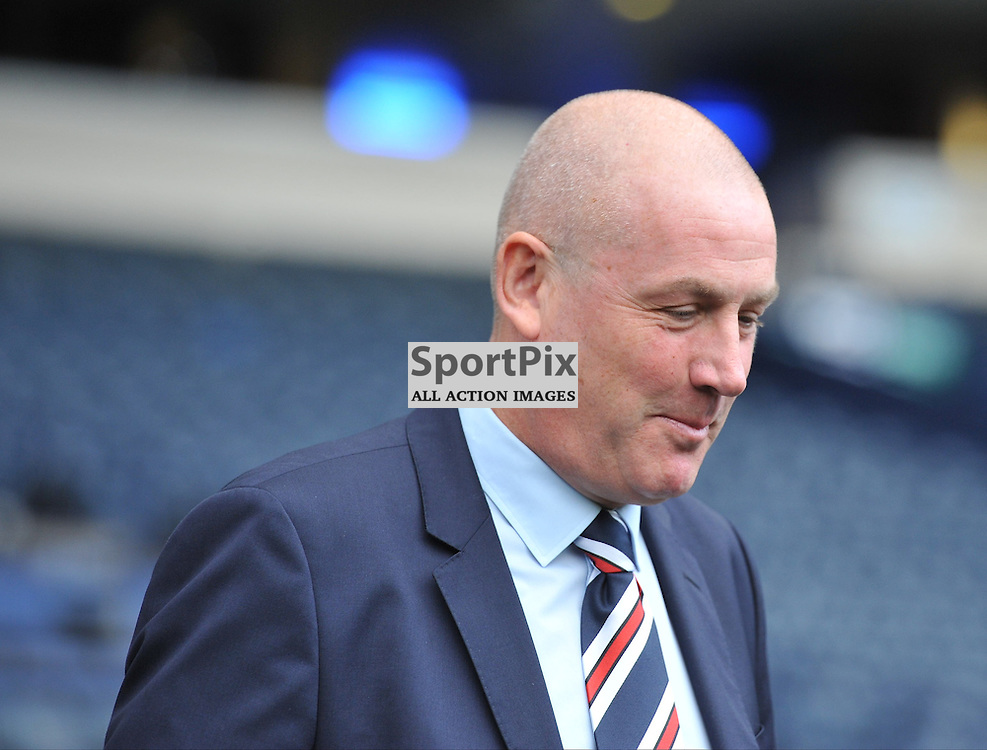 Rangers Manager Mark Warbuton walks out onto the pitch ahead of the match between Rangers v Celtic, Betfred Cup semi-final, Hampden Park, Sunday 23 October 2016, (c) Angie Isac | SportPix.org.uk