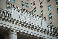2017 DECEMBER 12 - Detail of Fairmont Olympic Hotel, downtown Seattle, WA, USA. By Richard Walker
