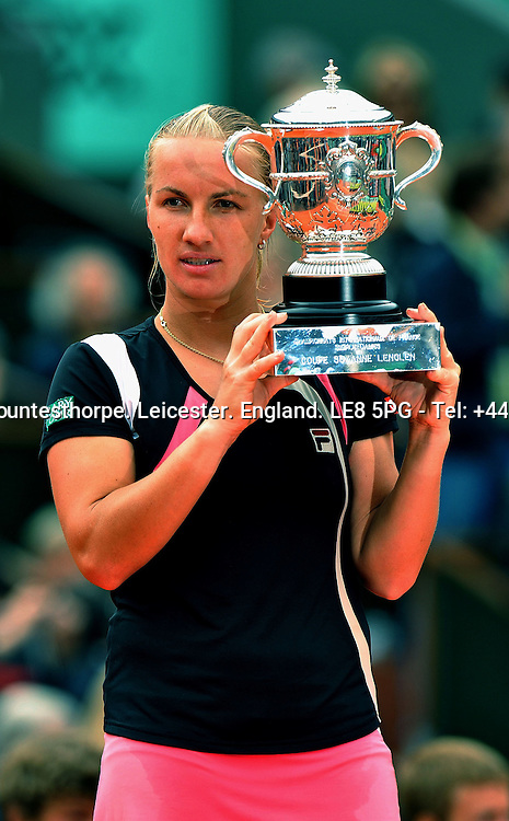 Svetlan KUZNETSOVA (RUS) the women's No 7 and new French Open 2009 Women's Champion with the winner's trophy..Svetlan KUZNETSOVA (RUS) beat Dinara SAFINA (RUS) 6-4 6-2 ...Tennis - French Open - Day 14 - Sat 06 Jun 2009 - Roland Garros - Paris - France..© CameraSport - 43 Linden Ave. Countesthorpe. Leicester. England. LE8 5PG - Tel: +44 (0) 116 277 4147 - admin@camerasport.com - www.camerasport.com.