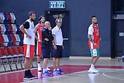 Marco Belinelli,Giordano Consolini,Mario Fioretti,Daniel Hackett<br /> Nazionale Italiana Maschile Senior<br /> Eurobasket 2017<br /> Allenamento<br /> FIP 2017<br /> Telaviv, 30/08/2017<br /> Foto Ciamillo - Castoria/ M.Longo