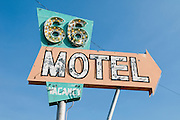 An old sign for the Route 66 Motel. Missoula Photographer