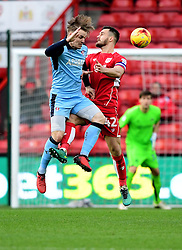 Bailey Wright of Bristol City battles for the high ball with  Danny Ward of Rotherham United  - Mandatory by-line: Joe Meredith/JMP - 04/02/2017 - FOOTBALL - Ashton Gate - Bristol, England - Bristol City v Rotherham United - Sky Bet Championship