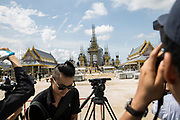 The Royal Crematorium in the middle of construction on Sanam Luang in Bangkok. The Royal Cremation Ceremony that will take place between 25-29 October 2017. It will be the final tribute and farewell to the revered His Majesty King Bhumibol Adulyadej (Rama IX) who died on the 13 October 2016 aged 89.