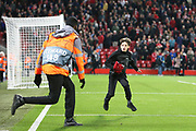 Got the shirt but there is no escaping the Anfield stewards during the Champions League match between Liverpool and FC Red Bull at Anfield, Liverpool, England on 2 October 2019.