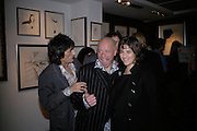 Tracey Emin and Ronnie Wood, Ronnie Wood: Josephine - private view , Scream, 34 Bruton Street, London, W1. 29 March 2007. Rolling Stones  guitarist celebrates 22 years of marriage with exhibition of 60 oil paintings and watercolours of his wife.  -DO NOT ARCHIVE-© Copyright Photograph by Dafydd Jones. 248 Clapham Rd. London SW9 0PZ. Tel 0207 820 0771. www.dafjones.com.