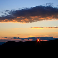 Late September sunset over Trayfoot Mountain viewed from Blackrock Summit, Shenandoah National Park, VA.