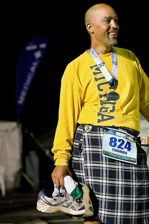 Thomas Scheer, from Ann Arbor, Mich., was the last Ironman participant to cross the finish line before the midnight cutoff. Scheer, who missed the cutoff by four minutes last year, completed the triathlon with a time of 16 hours, 55 minutes and 26 seconds.