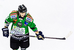 3.01.2014, Hala Tivoli, Ljubljana, SLO, EBEL, HDD Telemach Olimpija Ljubljana vs Dornbirner Eishockey Club, 63rd Game Day, in picture Gal Koren (HDD Telemach Olimpija, #19) during the Erste Bank Icehockey League 63rd Game Day match between HDD Telemach Olimpija Ljubljana and Dornbirner Eishockey Club at the Hala Tivoli, Ljubljana, Slovenia on 2014/01/03. (Photo By Matic Klansek Velej / Sportida)