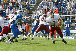 12 October 2002: Travis Turner steps back up after taking his initial drop. Eastern Illinois University Panthers host and defeat the Colonels of Eastern Kentucky during EIU's Homecoming at Charleston Illinois.