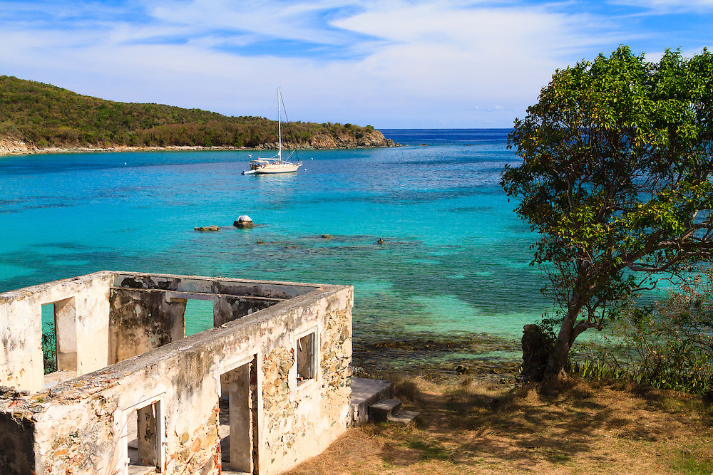 The idyllic ruins at Little Lameshur Bay on St. John, Virgin Islands National Park. Paradise found, if only I could move in.