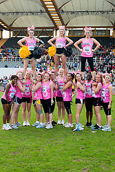 Sheffield Half Marathon and Fun Run Sunday Morning.Sheffield Sabrecats The University of Sheffield Cheerleading Squad..12 May 2013.Image © Paul David Drabble