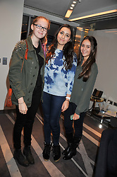 Left to right, STELLA KENNEDY, CHARLOTTE COYNE and YASMIN ZOUHEIRI at the NIP+FAB Bright Young Things Beauty Workshop Tea Party held at the W Hotel, Wardour Street, London W1 on 24th November 2012.