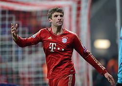 FUSSBALL  CHAMPIONS LEAGUE  ACHTELFINALE  HINSPIEL  2012/2013      FC Bayern Muenchen - FC Arsenal London     13.03.2013 Thomas Mueller (FC Bayern Muenchen)