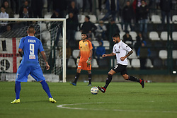 November 3, 2018 - Vercelli, Italy - Italian defender Luca Crescenzi from Pro Vercelli team playing during Saturday evening's match against Novara Calcio valid for the 10th day of the Italian Lega Pro championship  (Credit Image: © Andrea Diodato/NurPhoto via ZUMA Press)