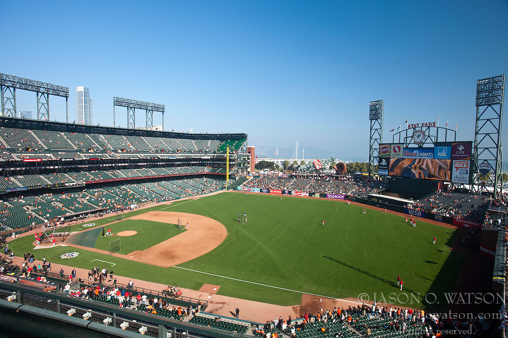 October 19, 2010; San Francisco, CA, USA; General view of AT&T Park before game three of the 2010 NLCS between the San Francisco Giants and the Philadelphia Phillies.