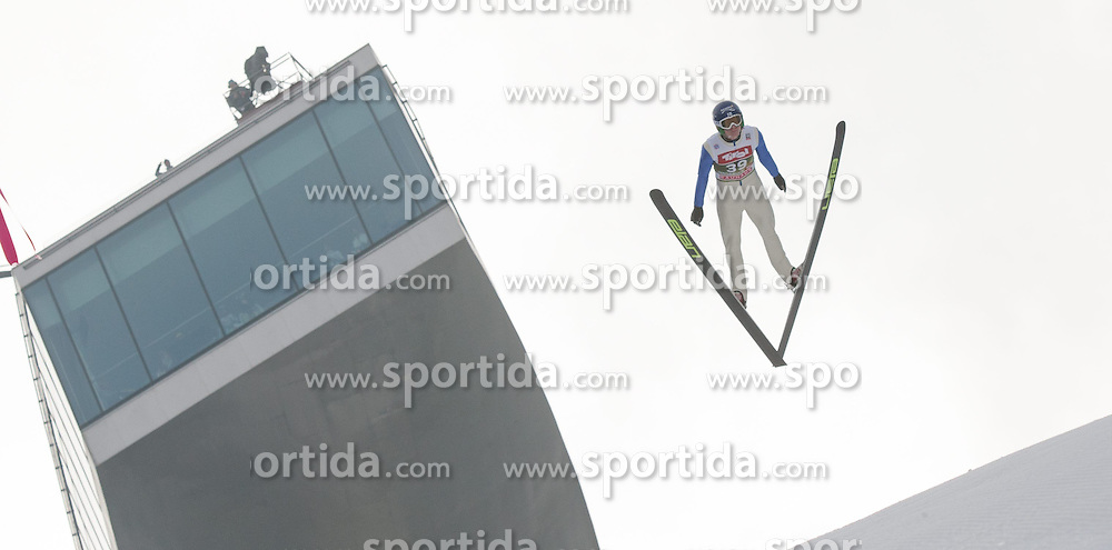 03.01.2015, Bergisel Schanze, Innsbruck, AUT, FIS Ski Sprung Weltcup, 63. Vierschanzentournee, Innsbruck, Training, im Bild Sami Niemi (FIN) // Sami Niemi of Finland soars through the air during a training session for the 63rd Four Hills Tournament of FIS Ski Jumping World Cup at the Bergisel Schanze in Innsbruck, Austria on 2015/01/03. EXPA Pictures © 2015, PhotoCredit: EXPA/ Jakob Gruber