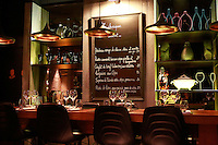 menu board and table-Restaurant Augustin, Paris