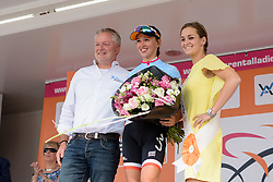 Kasia Niewiadoma (Rabo Liv) continues in the best young rider jersey at the 116 km Stage 5 of the Boels Ladies Tour 2016 on 3rd September 2016 in Tiel, Netherlands. (Photo by Sean Robinson/Velofocus).