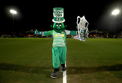 "Yeovil Town mascot the Jolly Green Giant before the Emirates FA Cup, fourth round match at Huish Park, Yeovil. PRESS ASSOCIATION Photo. Picture date: Friday January 26, 2018. See PA story SOCCER Yeovil. Photo credit should read: Nick Potts/PA Wire. RESTRICTIONS: EDITORIAL USE ONLY No use with unauthorised audio, video, data, fixture lists, club/league logos or ""live"" services. Online in-match use limited to 75 images, no video emulation. No use in betting, games or single club/league/player publications."