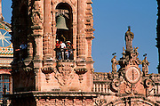 MEXICO, COLONIAL, TAXCO Santa Prisa Cathedral, 1748, belltower