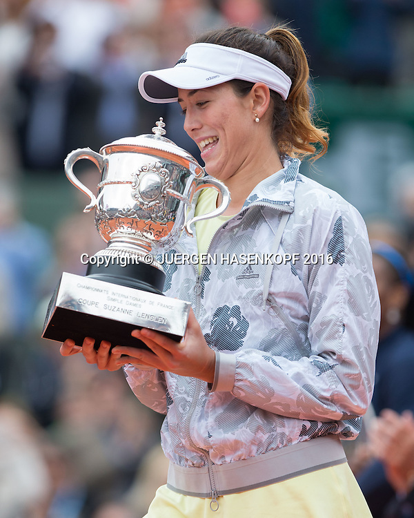 Garbine Muguruza (ESP)<br /> <br /> Tennis - French Open 2016 - Grand Slam ITF / ATP / WTA -  Roland Garros - Paris -  - France  - 4 June 2016.