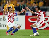 Jubel 2:1 Niko Kovac, Dario Srna Kroatien<br /> Fussball WM 2006 Kroatien - Australien<br /> Kroatia - Australia<br /> Norway only