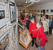 Seaford Photographic Society 2013 Exhibition opening in the Crypt Gallery in Seaford East Sussex by the President;  The Right Honourable The Lord Denis Healey former Deputy Leader of the Labour Party. Free entry and open 1000-1700 from 21 September to 6 October 2013