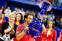 Fabio Fognini (ITA) during flower ceremony after Final of 27th Konzum Croatia Open Umag, on July 24, 2016, in ATP Stadion Goran Ivanisevic, Umag, Croatia. Photo by Urban Urbanc / Sportida