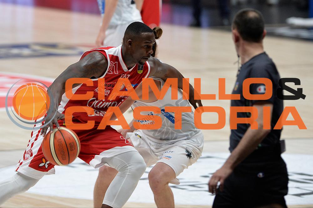 Sanders Rakim<br /> Olimpia EA7 Emporio Armani Milano vs Dolomiti Energia Trentino<br /> Lega Basket Serie A 2016/2017<br /> PlayOff semifinale gara 2<br /> Milano 27/05/2017<br /> Foto Ciamillo-Castoria / I.Mancini