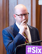 Paul Nuttall MEP <br /> UKIP Leader makes a Brexit speech #SixKeysTests at the Marriott Hotel, London, Great Britain <br /> 27th March 2017 <br /> <br /> Ahead of the Prime Minister triggering Article 50 next week, UKIP Leader Paul Nuttall sets out six key tests by which the country can judge Theresa May's Brexit negotiations in a keynote speech on this coming Monday morning.<br /> <br /> Gerard Batten MEP<br /> <br />  <br /> Photograph by Elliott Franks <br /> Image licensed to Elliott Franks Photography Services