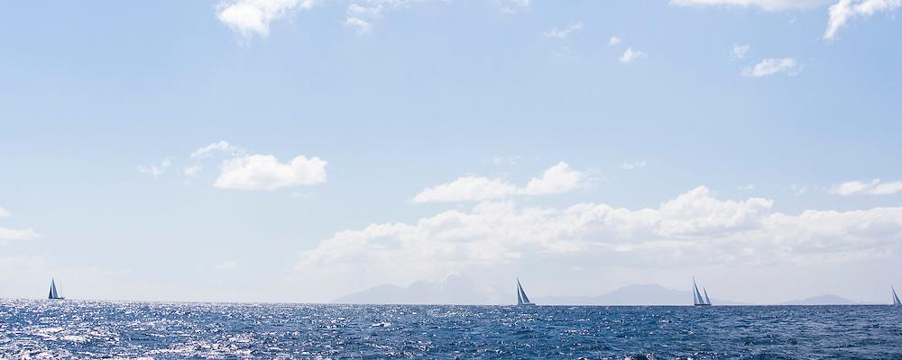 The Superyacht Cup regatta, Antigua 2010, race one.