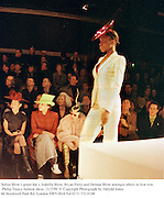 Selina Blow( green hat ), Isabella Blow, Bryan Ferry and Detmar Blow amongst others in fron row. Philip Treacy fashion show. 21/2/99. © Copyright Photograph by Dafydd Jones<br />66 Stockwell Park Rd. London SW9 0DA Tel 0171 733 0108