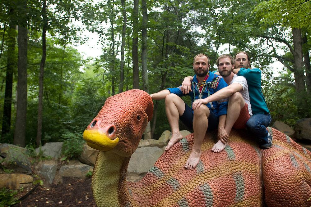 Akron Family; Dana Janssen, Seth Olinsky, and Miles Seaton.