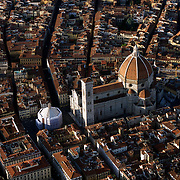 Aerial view of the Florence Cathedral, Florence, Italy