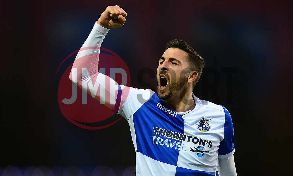 Liam Sercombe of Bristol Rovers celebrates at full time  - Mandatory by-line: Alex James/JMP - 10/02/2018 - FOOTBALL - Kassam Stadium - Oxford, England - Oxford United v Bristol Rovers - Sky Bet League One