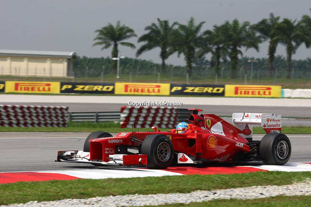 &copy; Photo4 / LaPresse<br /> 23/3/2012 Sepang<br /> Malaysian Grand Prix, Sepang 2012<br /> In the pic: Fernando Alonso (ESP), Scuderia Ferrari, F2012