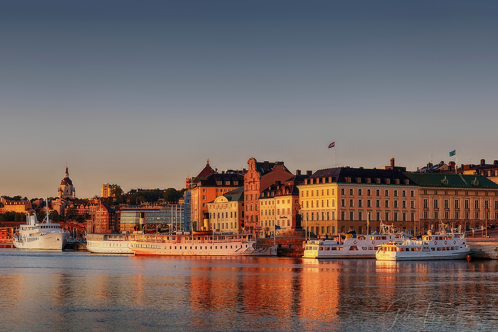 Sunrise over Gamla Stan in Stockholm