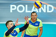 Katowice, Poland - 2017 September 02: Partner Sergei Jampolski from SO Russia receives the ball while SO Russia versus SO Czech Republic semifinal match during European Unified Volleyball Tournament 2017 at Spodek Hall on September 02, 2017 in Katowice, Poland.<br /> <br /> Adam Nurkiewicz declares that he has no rights to the image of people at the photographs of his authorship.<br /> <br /> Picture also available in RAW (NEF) or TIFF format on special request.<br /> <br /> Any editorial, commercial or promotional use requires written permission from the author of image.<br /> <br /> Image can be used in the press when the method of use and the signature does not hurt people on the picture.<br /> <br /> Mandatory credit:<br /> Photo by © Adam Nurkiewicz / Mediasport