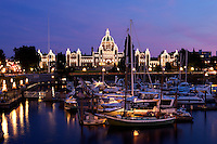 Inner Harbour and Parliament Building at Night, Victoria, B.C.