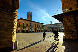 Early morning in the Piazza Maggiore, Bologna, Italy<br /> <br /> (c) Andrew Wilson | Edinburgh Elite media